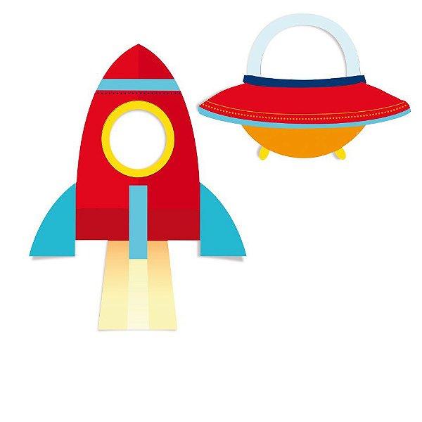 Painel para Foto e Diversão Festa Astronauta - 2 unidades - Cromus - Rizzo Festas