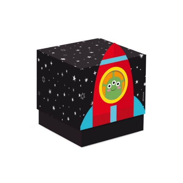 Caixa Cubo Festa Astronauta - 8 unidades - Cromus - Rizzo Festas