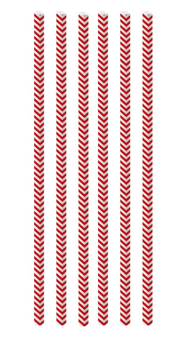 Canudo de Papel Missoni Vermelho - 20 unidades - Cromus - Rizzo Festas