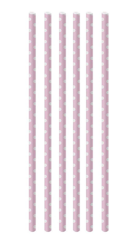 Canudo de Papel Poá Rosa e Branco - 20 unidades - Cromus - Rizzo Festas