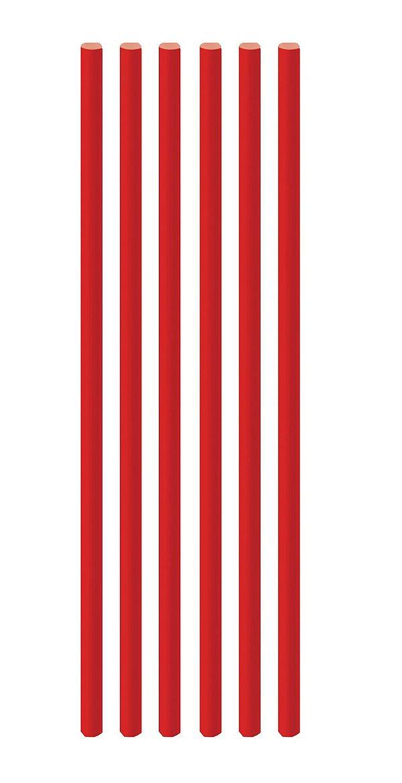 Canudo de Papel Liso Vermelho - 20 unidades - Cromus - Rizzo Festas