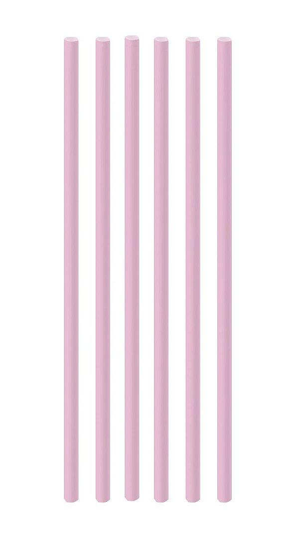Canudo de Papel Liso Rosa - 20 unidades - Cromus - Rizzo Festas