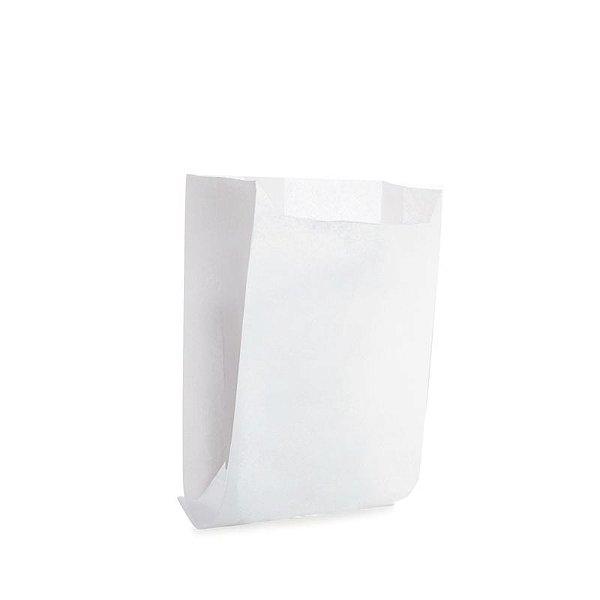 Saquinho de Papel para Mini Lanche - Liso Branco - 50 unidades - Cromus - Rizzo Festas