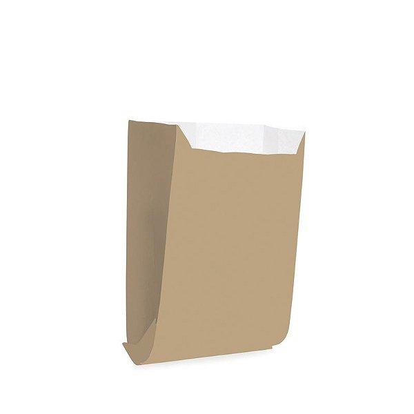 Saquinho de Papel para Mini Lanche - Liso Pardo - 50 unidades - Cromus - Rizzo Festas