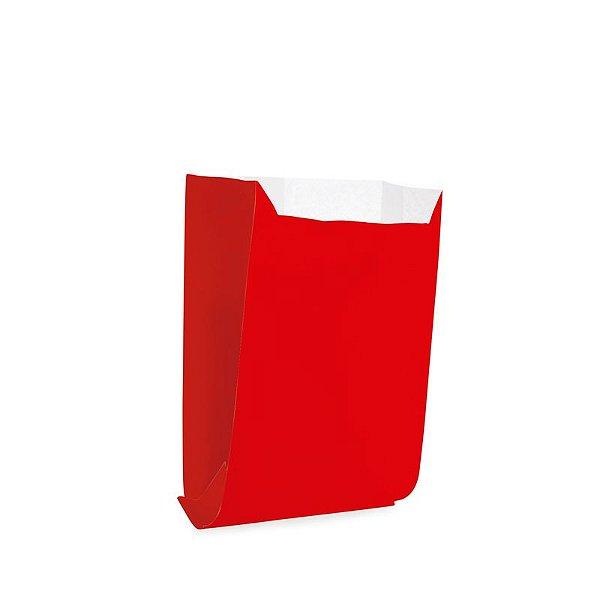 Saquinho de Papel 8x10cm - Liso Vermelho - 50 unidades - Cromus - Rizzo Festas