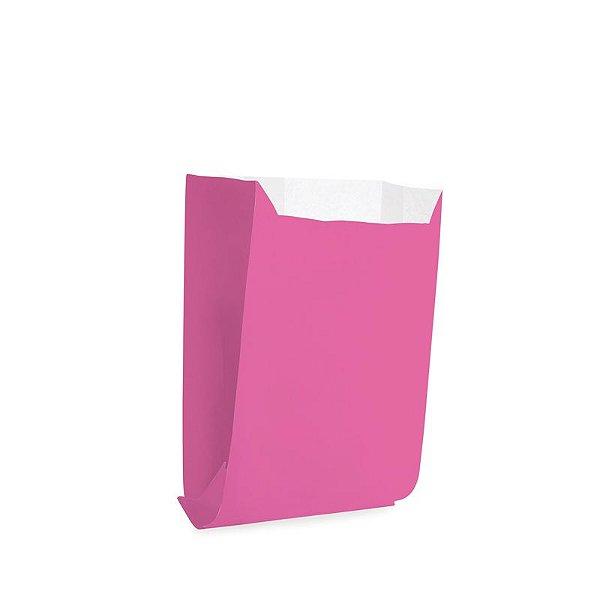Saquinho de Papel para Mini Lanche - Liso Pink - 50 unidades - Cromus - Rizzo Festas