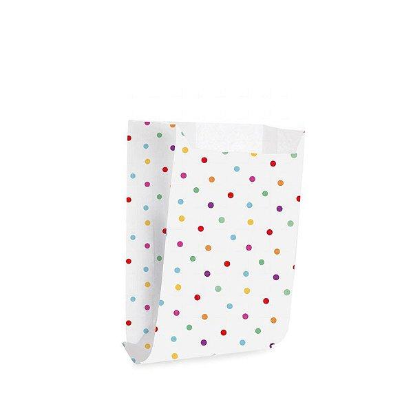 Saquinho de Papel para Mini Lanche - Colorê - 50 unidades - Cromus - Rizzo Festas
