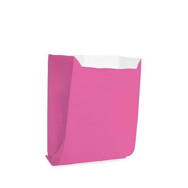 Saquinho de Papel para Mini Pizza e Hambúrguer - Liso Pink - 50 unidades - Cromus - Rizzo Festas