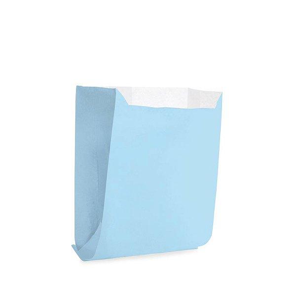 Saquinho de Papel para Mini Pizza e Hambúrguer - Liso Azul - 50 unidades - Cromus - Rizzo Festas