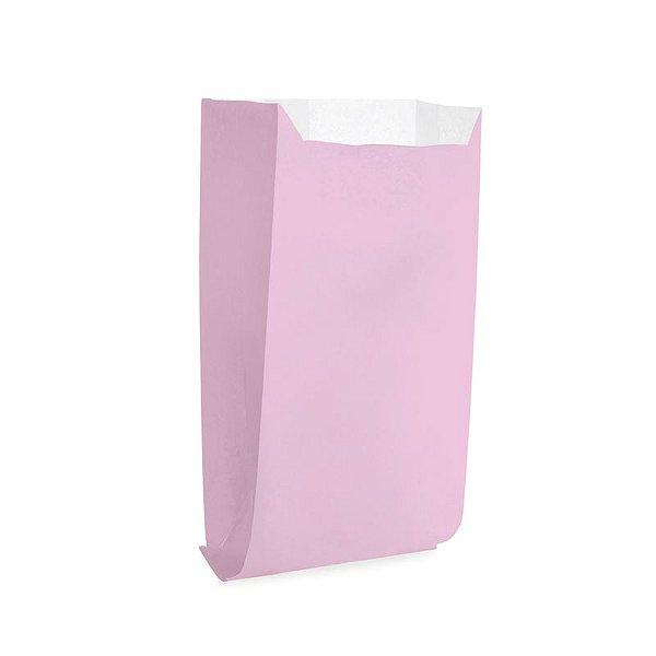 Saquinho de Papel para Pipoca - Liso Rosa - 50 unidades - Cromus - Rizzo Festas