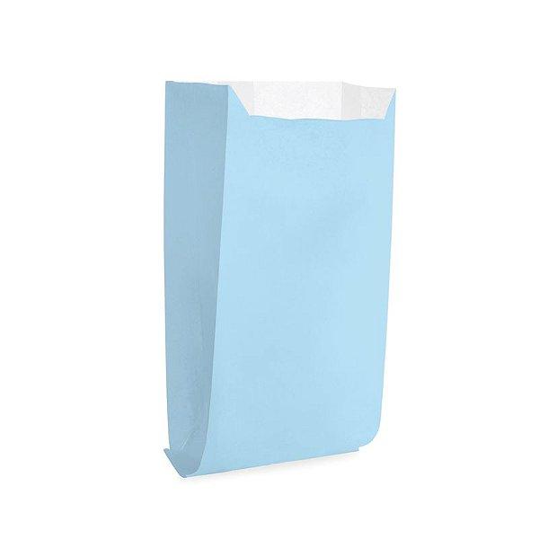 Saquinho de Papel para Pipoca - Liso Azul - 50 unidades - Cromus - Rizzo Festas