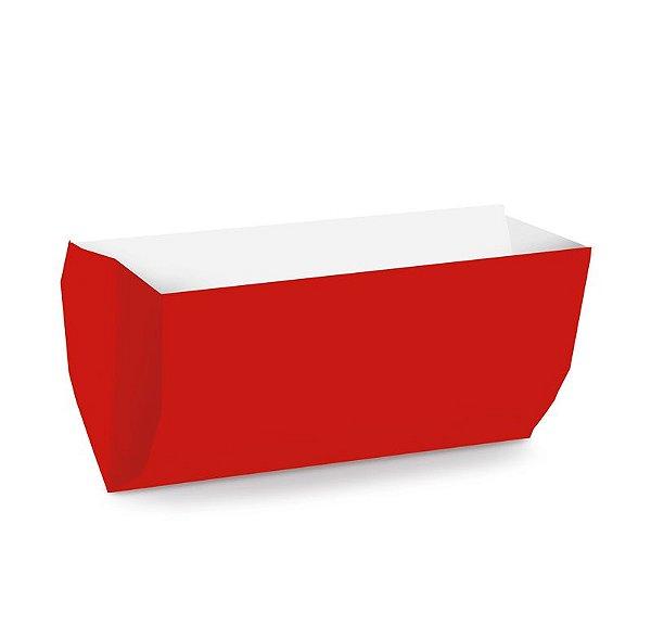 Saquinho de Papel para Hot Dog - Liso Vermelho - 50 unidades - Cromus - Rizzo Festas