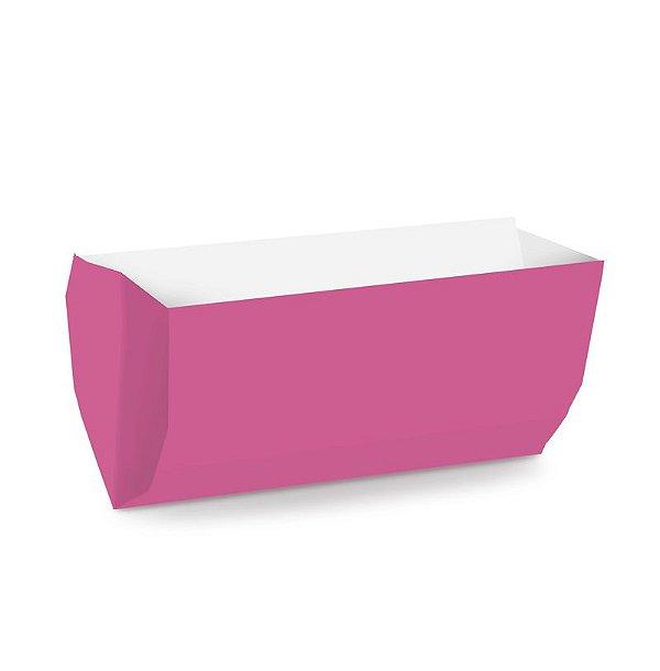 Saquinho de Papel para Hot Dog 17,5x9x5cm - Liso Pink - 50 unidades - Cromus - Rizzo Festas