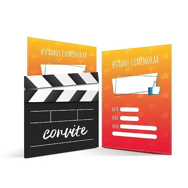 Convite Festa Influencer - 8 unidades - Cromus - Rizzo Festas