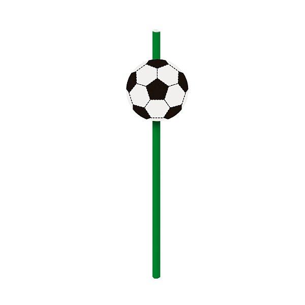 Canudo de Papel Festa Futebol com Aplique - 20 unidades - Cromus - Rizzo Festas