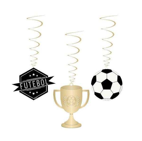 Móbiles Decorativos Festa Futebol - 8 unidades - Cromus - Rizzo Festas