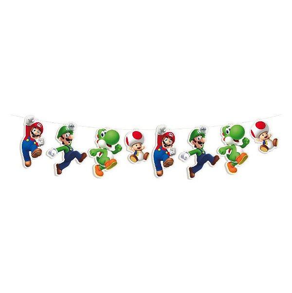 Faixa Decorativa Festa Mario - Cromus - Rizzo Festas