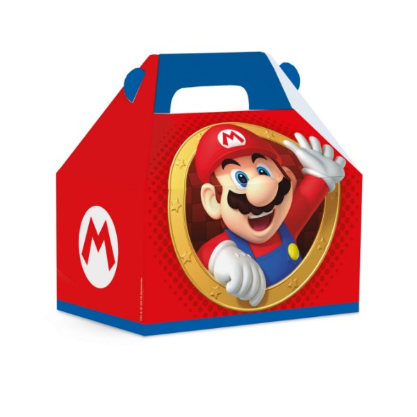 Caixa Maleta Kids Festa Mario - Vermelha - 10 unidades - Cromus - Rizzo Festas