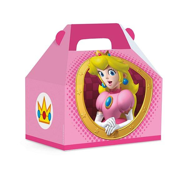 Caixa Maleta Kids Festa Mario - Rosa - 10 unidades - Cromus - Rizzo Festas