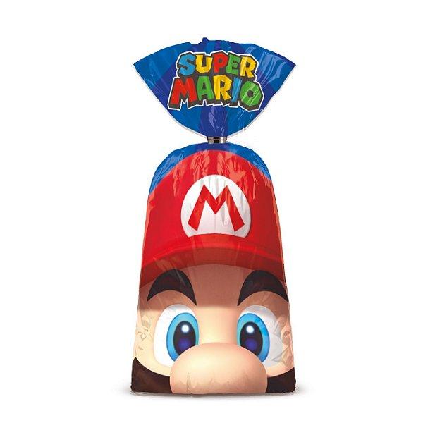 Sacolinha p Lembrancinha Festa Mario - 8 unidades - Cromus - Rizzo Festas