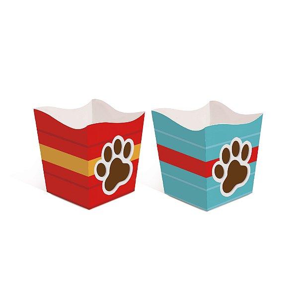 Cachepot Festa Cachorrinhos - 8 unidades - Cromus - Rizzo Festas
