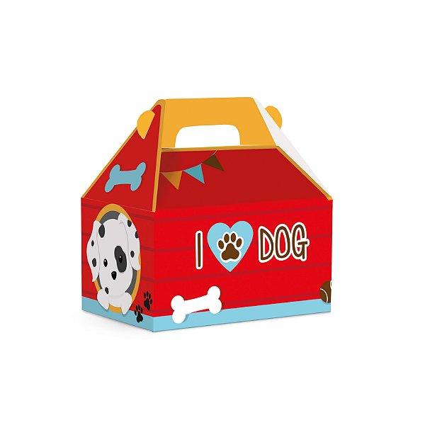 Caixa Maleta Kids Festa Cachorrinhos 12x8x12cm - 10 unidades - Cromus - Rizzo Festas