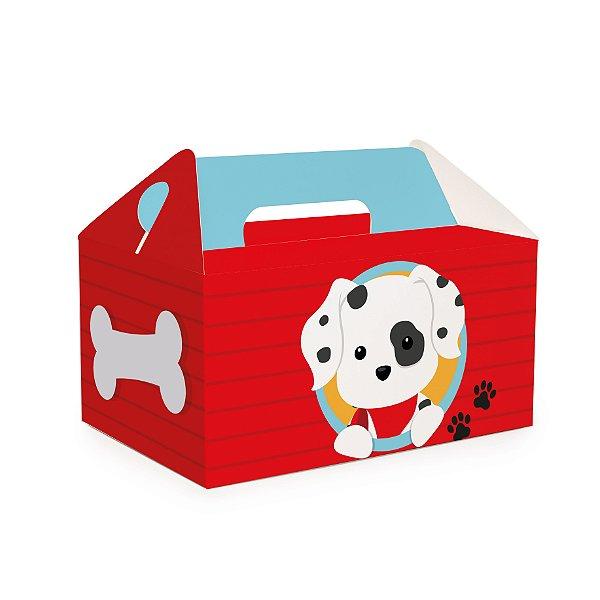 Caixa Kit Lanche Escolar Festa Cachorrinhos - 10 unidades - Cromus - Rizzo Festas