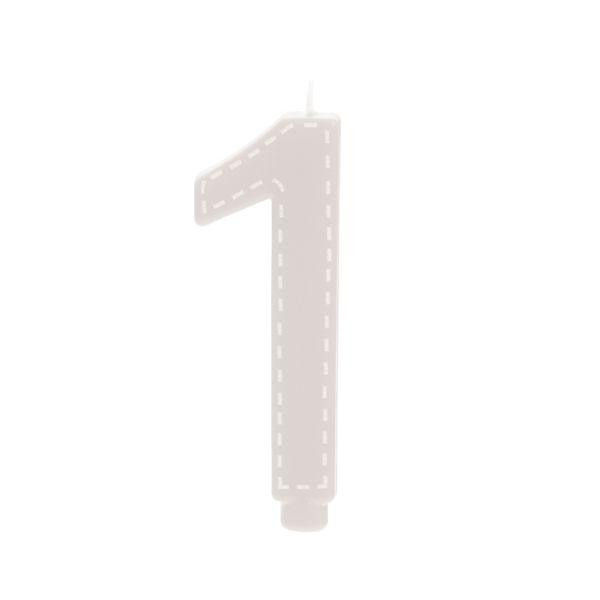 Vela de Aniversário nº1  Branco G - 01 unidade - Cromus - Rizzo Festas