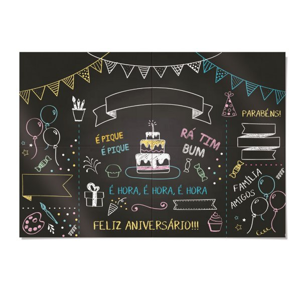 Painel Decorativo Festa Cores - Cromus - Rizzo Festas