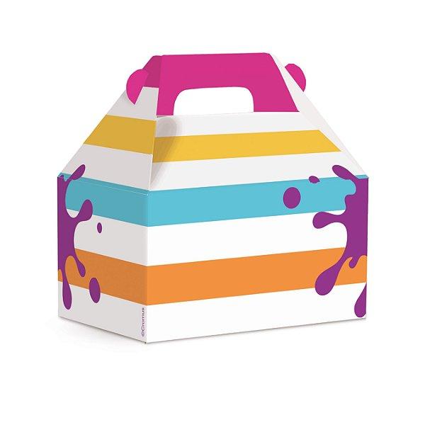 Caixa Maleta Kids Festa Cores - 10 unidades - Cromus - Rizzo Festas
