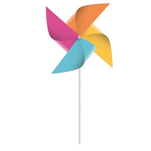 Catavento Colorido Festa Cores - 8 unidades - Cromus - Rizzo Festas