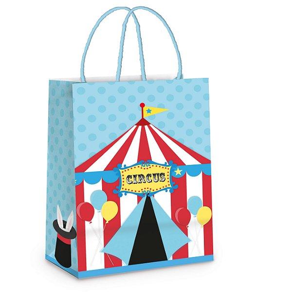Sacola de Papel p Lembrancinha Festa Circo - 10 unidades - Cromus - Rizzo Festas