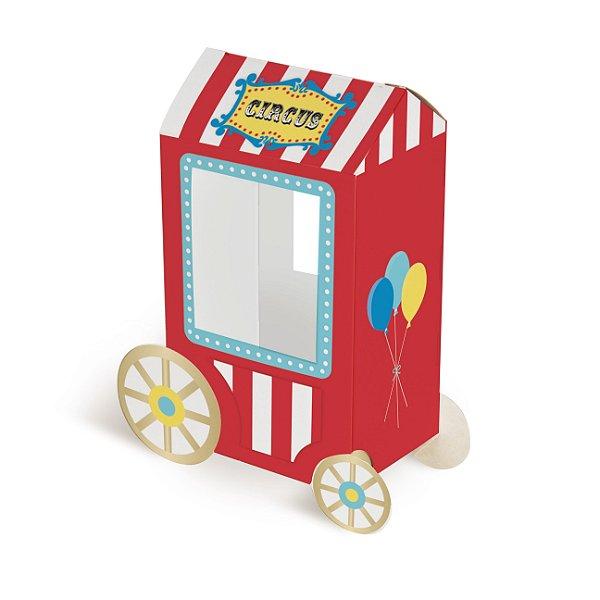 Caixa Carrinho de Pipoca Festa Circo - 8 unidades - Cromus - Rizzo Festas
