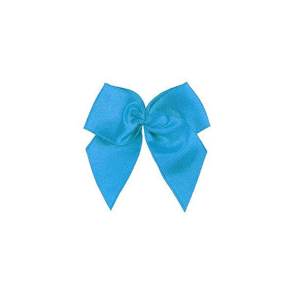 Laço Cetim Gordinho - Azul Turquesa - 50 unidades - Rizzo Embalagens