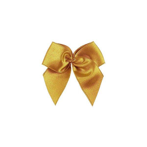 Laço Cetim Gordinho - Dourado - 50 unidades - Rizzo Embalagens
