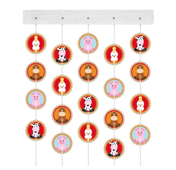 Cortina Decorativa Festa Fazendinha - 6 unidades - Cromus - Rizzo Festas