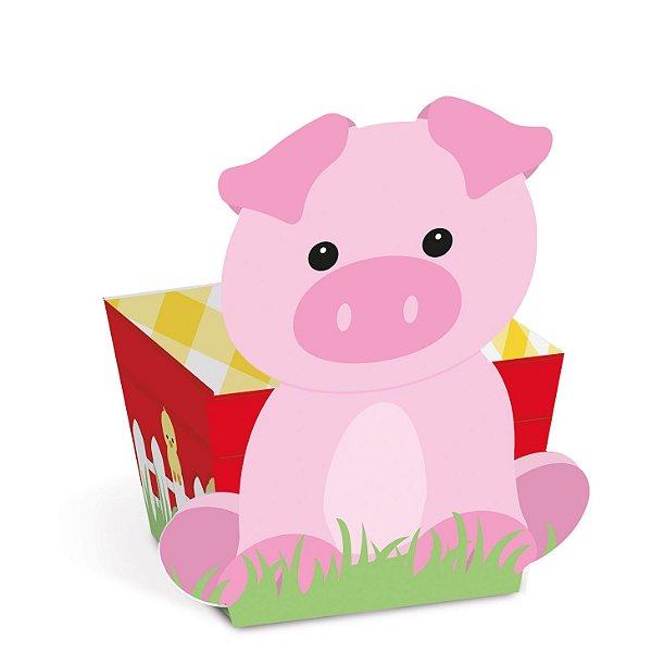 Mini Cachepot Festa Fazendinha Porquinho - 10 unidades - Cromus - Rizzo Festas