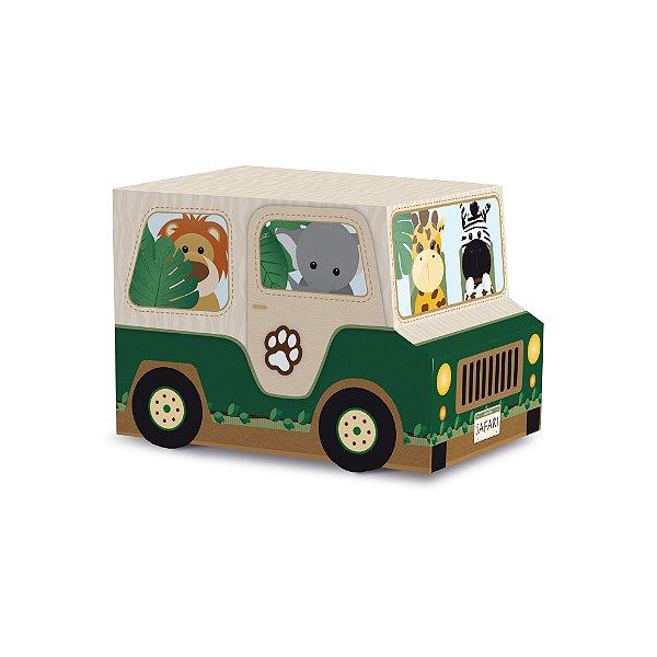 Caixa Jipe Festa Safari - 8 unidades - Cromus - Rizzo Festas