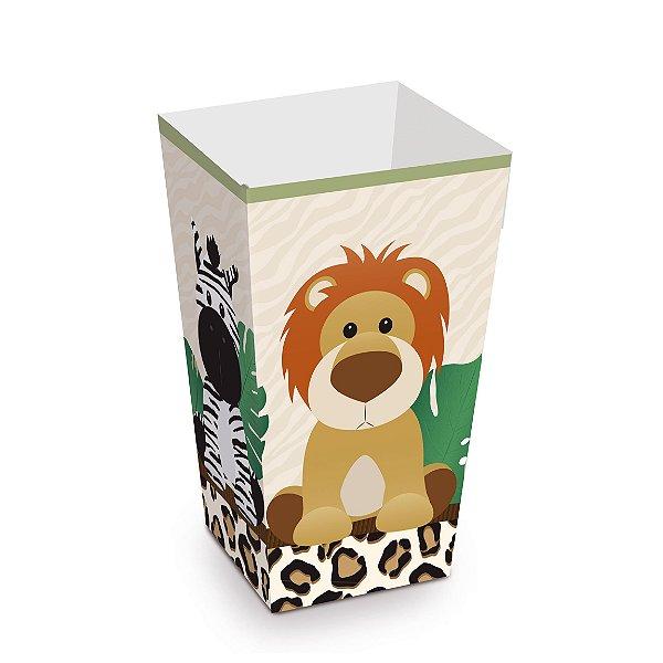 Caixa Pipoca Festa Safari - 10 unidades - Cromus - Rizzo Festas