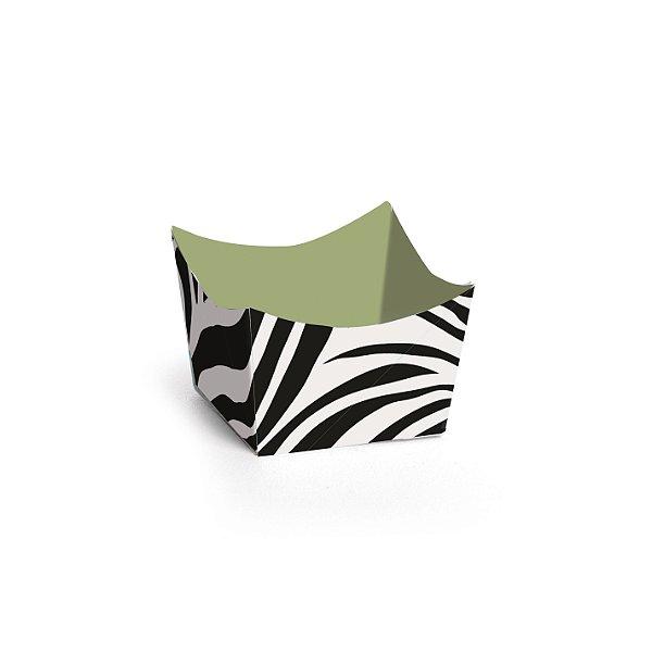 Forminha para Doces Cachepot Festa Safari - Zebra - 24 unidades - Cromus - Rizzo Festas