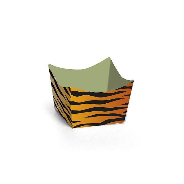 Forminha para Doces Cachepot Festa Safari - Tigre - 24 unidades - Cromus - Rizzo Festas