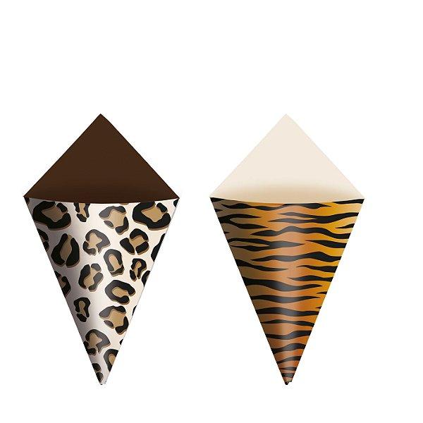 Mini Cone Festa Safari - 24 unidades - Cromus - Rizzo Festas