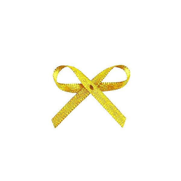 Laço Cetim Mosquitinho - Amarelo Ouro- 100 unidades - Rizzo Embalagens