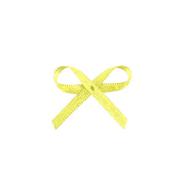 Laço Cetim Mosquitinho - Amarelo - 100 unidades - Rizzo Embalagens