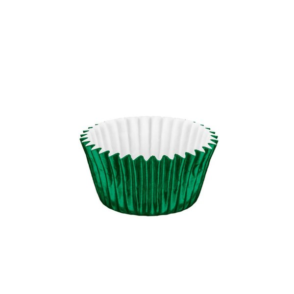 Forminhas para Doces Metalizada Nº 6 Verde 50 unidades Mago Rizzo Embalagens