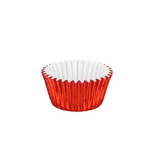Forminhas para Doces Metalizada Nº 6 Vermelha 50 unidades Mago Rizzo Embalagens