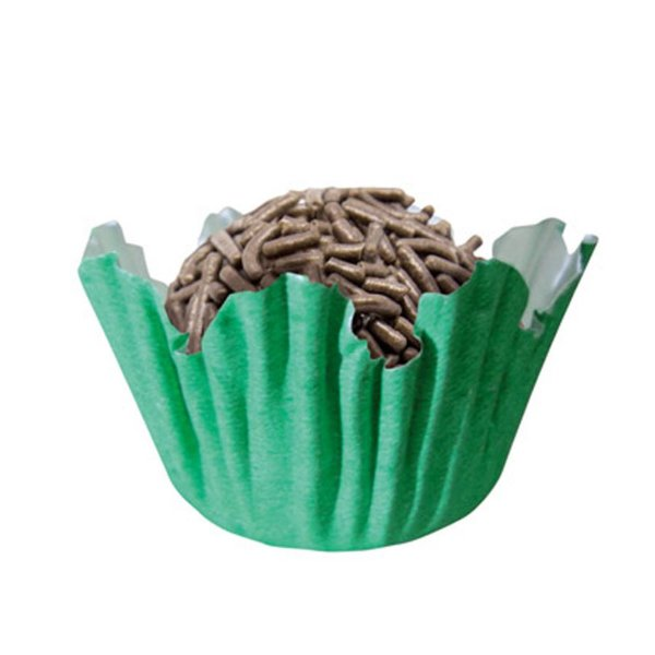 Forminhas para Doces N° 3 Recortada Verde Bandeira com 100 unidades Mago Rizzo Embalagens