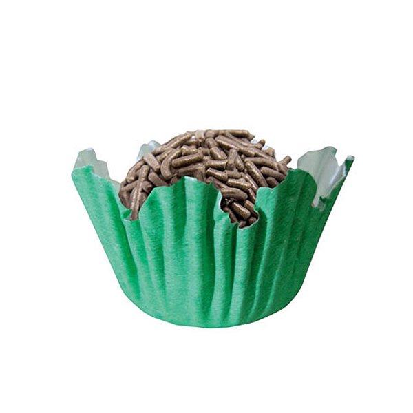 Forminhas para Doces N° 4 Recortada Verde Bandeira com 100 unidades Mago Rizzo Embalagens