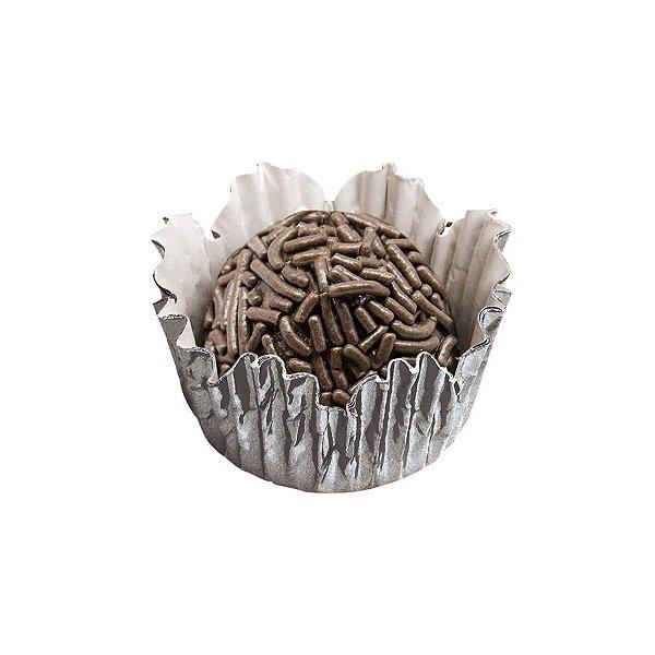 Forminhas para Doces N° 5 Recortada Prata Metalizada com 50 unidades Mago Rizzo Embalagens