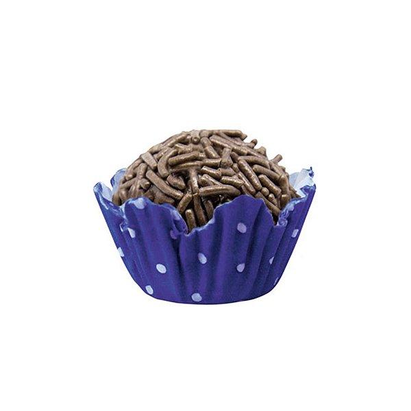 Forminhas para Doces N° 5 Recortada  Azul Royal Poá Branco 100 unidades Mago Rizzo Embalagens